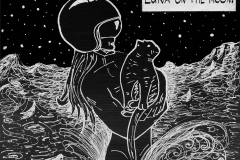 With Luna on the moon